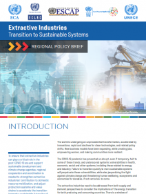Extractive Industries - Transition to Sustainable Systems