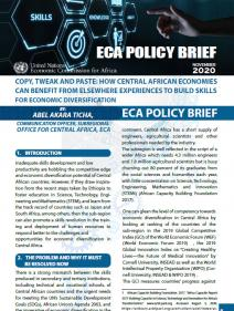 Copy, Tweak and Paste: How Central African Economies Can Benefit from Elsewhere Experiences to Build Skills for Economic Diversification