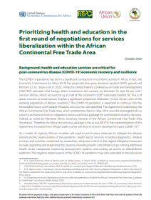 Prioritizing health and education in the first round of negotiations for services liberalization within the African Continental Free Trade Area