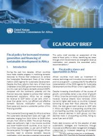 Fiscal policy for increased revenue generation and financing of sustainable development in Africa