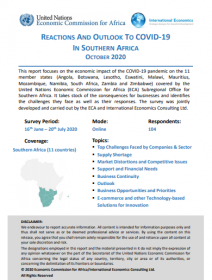 Reactions and outlook to covid-19 in Southern Africa October 2020