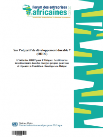 Sur l'objectif de développement durable 7 (ODD7) : l'initiative ODD7 pour l'Afrique : accélérer les investissements dans les énergies propres pour tous et répondre à l'ambition climatique en Afrique