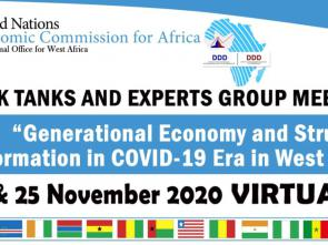 West African think tanks and experts meet virtually to discuss generational economy and structural transformation in the COVID-19 era
