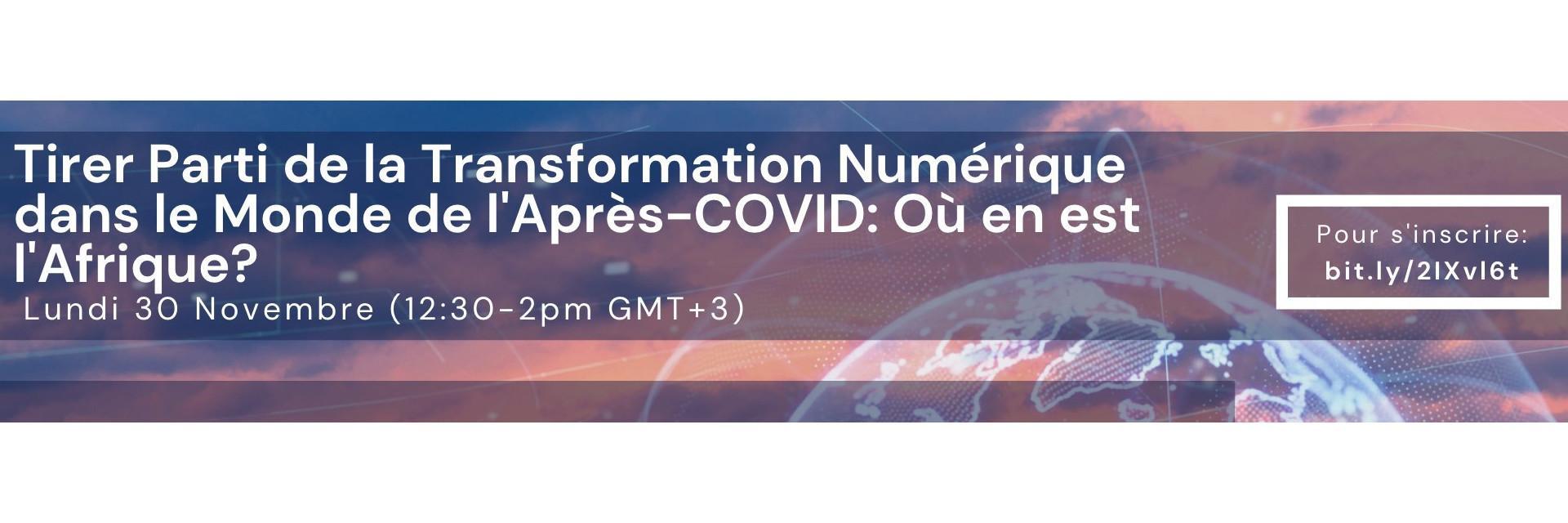 Tirer parti de la transformation numérique à l'ère post COVID-19