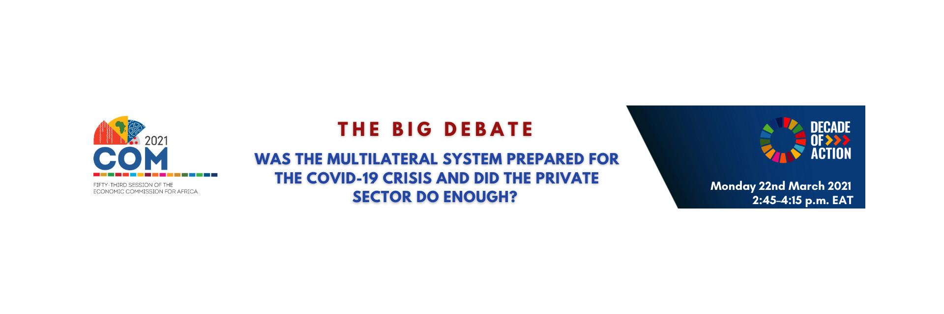 The Big Debate: Africa's post-COVID19 recovery will be a marathon, not a race